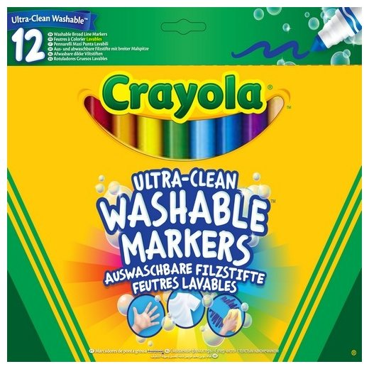 Crayola Фломастеры смываемые 12 шт. (58-8329)