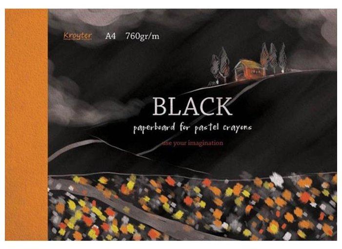 Альбом для рисования пастелью Кройтер Черный 7514/693935 29.7 х 21 см (A4), 760 г/м², 10 л.