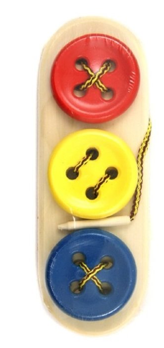 Шнуровка RNToys Пуговицы 3 в ряд цветные (Ш-081)