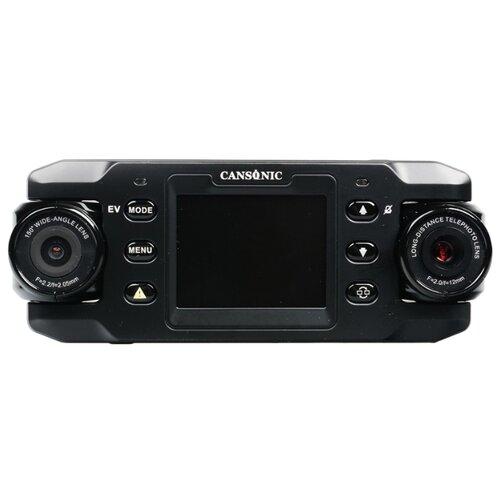 Видеорегистратор CANSONIC Z1 ZOOM GPS, 2 камеры, GPS, ГЛОНАСС черный