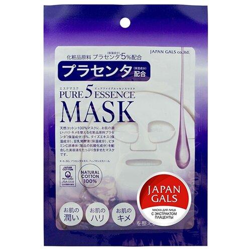 Japan Gals маска Pure 5 Essence с плацентой недорого