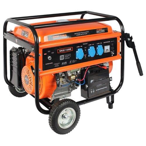 Фото - Бензиновый генератор PATRIOT Max Power SRGE 7200E (474 10 3188) (6000 Вт) бензиновый генератор patriot gp 6510le 5000 вт
