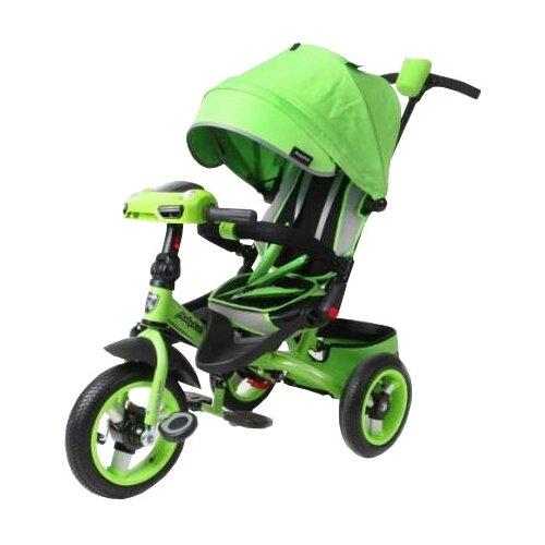 Купить со скидкой Трехколесный велосипед Moby Kids Leader 360° 12x10 AIR Car зеленый