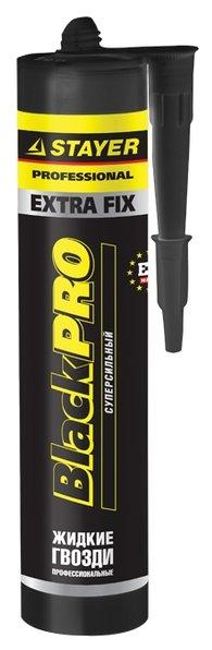 Монтажный клей STAYER BlackPRO EXTRA FIX суперсильный (280 мл)
