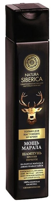 Natura Siberica шампунь Мощь марала против перхоти