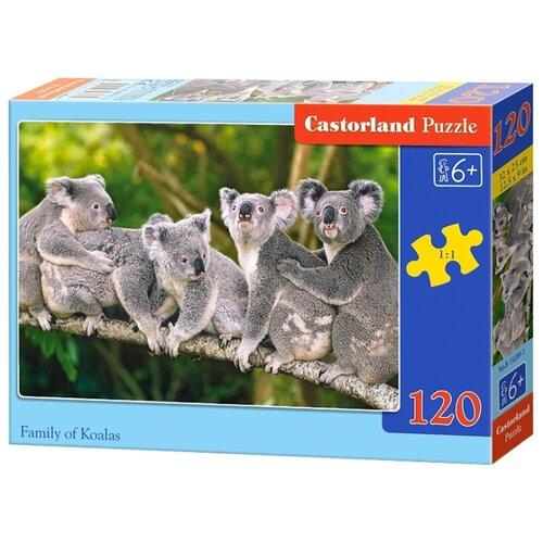 Купить Пазл Castorland Family of Koalas (B-13289), элементов: 120 шт., Пазлы