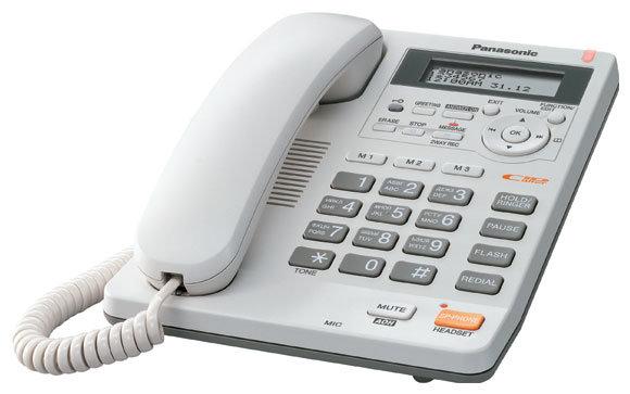 Телефон Panasonic KX-TS2570RUB черный с АОН и автоответчиком