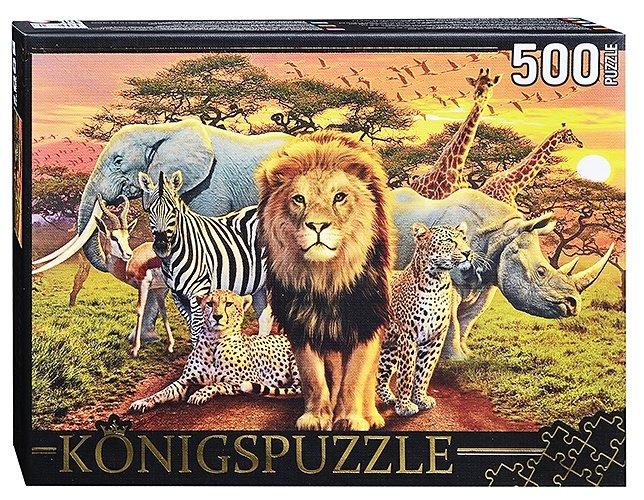 Пазл Рыжий кот Konigspuzzle Эндрю Фарли Дикий мир (МГК500-8324), 500 дет.