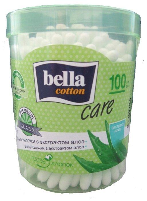 Bella Ватные палочки с экстрактом алоэ, 100 шт. круглая упаковка