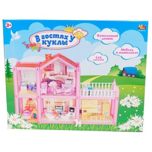 Купить ABtoys кукольный домик В гостях у куклы PT-00772, розовый, Кукольные домики