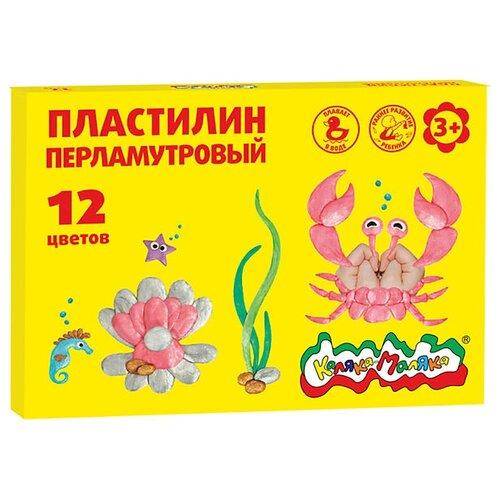 цена Пластилин Каляка-Маляка Плавающий перламутровый 12 цветов (ПКМП12) онлайн в 2017 году