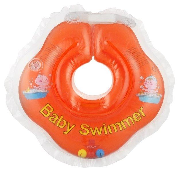 Круг на шею Baby Swimmer 0m+ (3-12 кг) с погремушкой