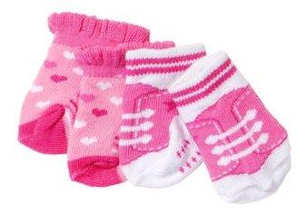 Zapf Creation Носки для куклы Baby Born 823576, 2 пары в ассортименте