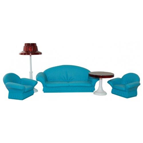 ОГОНЁК Набор мягкой мебели для гостиной Конфетти (С-1336) голубой