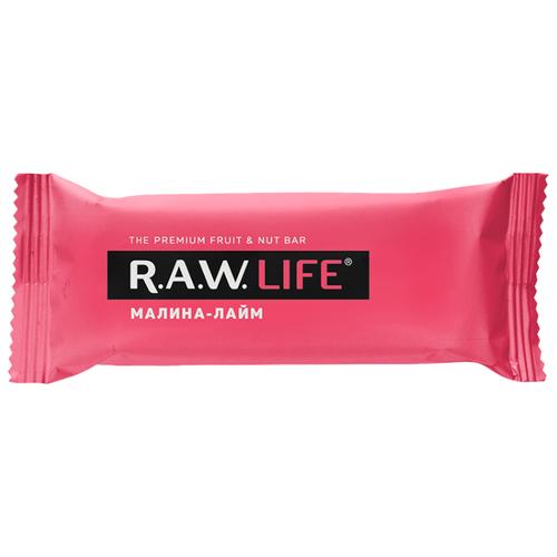 Фруктовый батончик R.A.W. Life без сахара Малина-Лайм, 47 г фруктовый батончик r a w life без сахара mix classic 20 шт