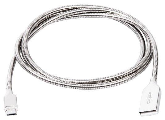 Кабель Rombica Digital USB - microUSB (AS-10) 1 м алюминий фото 1