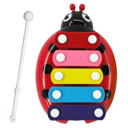 Купить DoReMi ксилофон D-00053 красный, Детские музыкальные инструменты