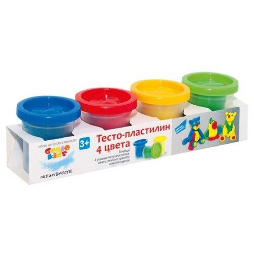 Масса для лепки Genio Kids Набор 4 баночки по 50 г (TA1008) набор для лепки genio kids art 4 шт