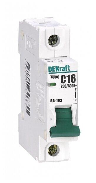 Автоматический выключатель DEKraft ВА-103 1P (C) 6kA