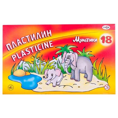 Пластилин ГАММА Мультики 18 цветов (280028)Пластилин и масса для лепки<br>