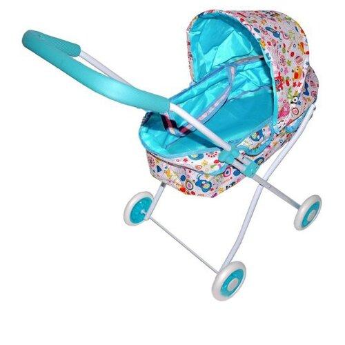 Купить Коляска-люлька Mary Poppins Фантазия 67316 голубой, Коляски для кукол