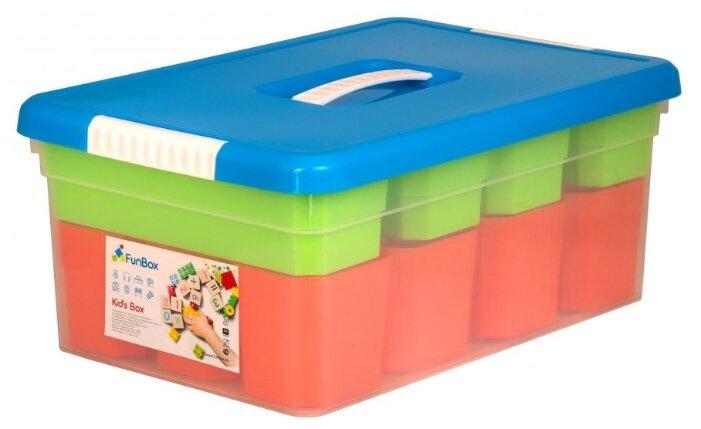 Контейнер FunBox 10 л (FB5051) зеленый/оранжевый/синий