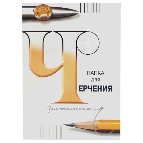 Купить Папка для черчения Гознак школьная 29.7 х 21 см (A4), 200 г/м², 24 л. белый/оранжевый, Альбомы для рисования