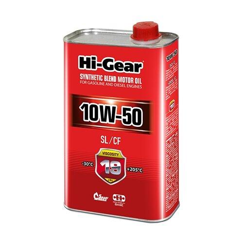 Моторное масло Hi-Gear 10W-50 SL/CF 1 л промывка hi gear hg2219