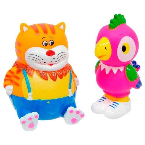 Купить Набор для ванной Играем вместе Кеша и Кот (129R-PVC) оранжевый/розовый, Игрушки для ванной