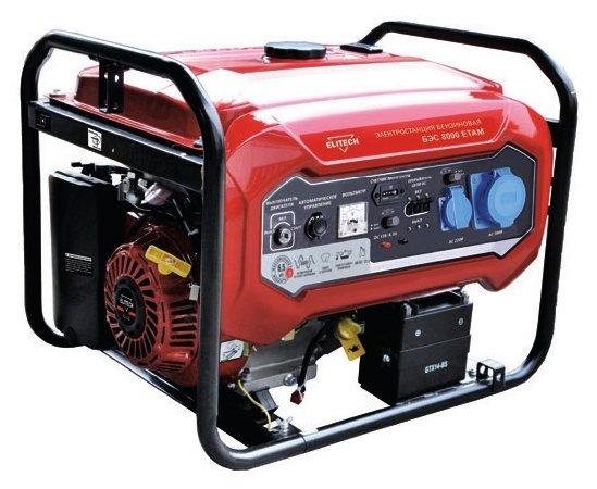 Бензиновый генератор ELITECH БЭС 8000 ЕТАМ (6000