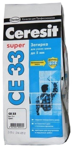 Затирка Ceresit CE 33 Super 2 кг