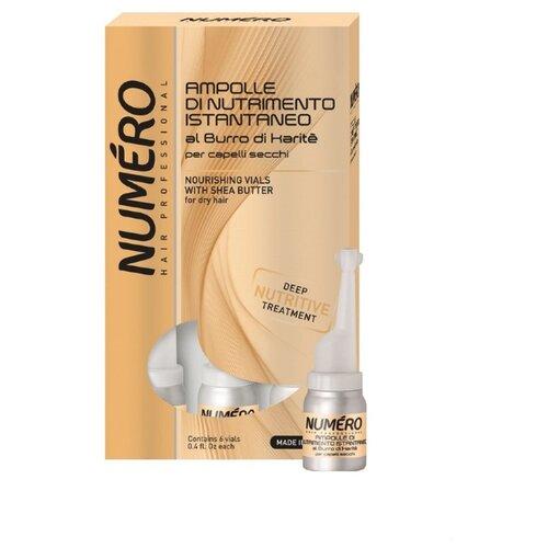 Brelil Professional Numero Средство для волос питательное с маслом карите, 12 мл, 6 шт.