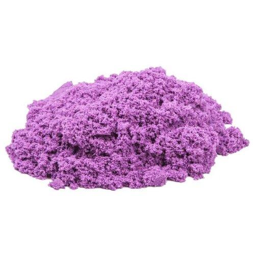 Купить Кинетический песок Космический песок Набор с формочками и надувной песочницей, сиреневый, 1 кг, картонная пачка