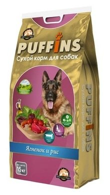 Puffins (15 кг) Сухой корм для собак Ягненок и рис
