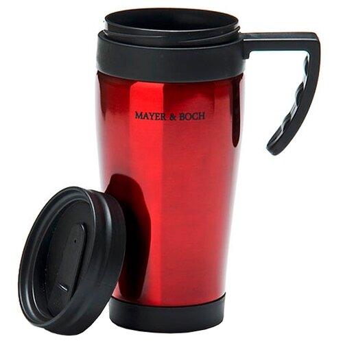 Термокружка MAYER & BOCH 25877, 0.45 л красный/черный