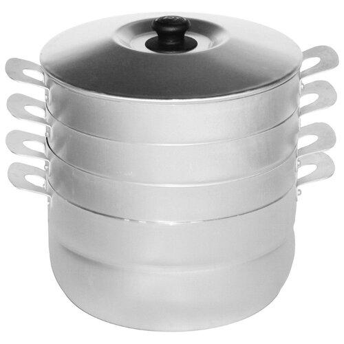 Фото - Мантоварка Калитва 180635 6 л, серебристый кастрюля калитва классика 6 л серебристый
