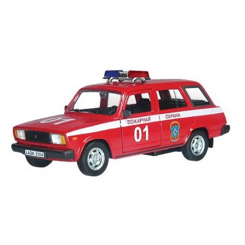Легковой автомобиль Autogrand Lada 2104 пожарная охрана (32677) 1:36 красный/белый