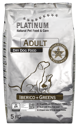Корм для собак PLATINUM Adult Dog Iberico + Greens
