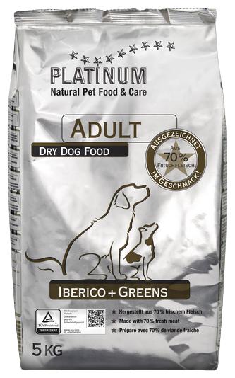 Корм для собак PLATINUM Adult Dog Iberico + Greens