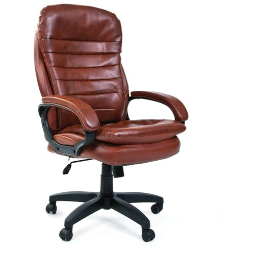 Фото - Компьютерное кресло Chairman 795 LT для руководителя, обивка: искусственная кожа, цвет: коричневый компьютерное кресло chairman 668 lt для руководителя обивка искусственная кожа цвет черный бежевый
