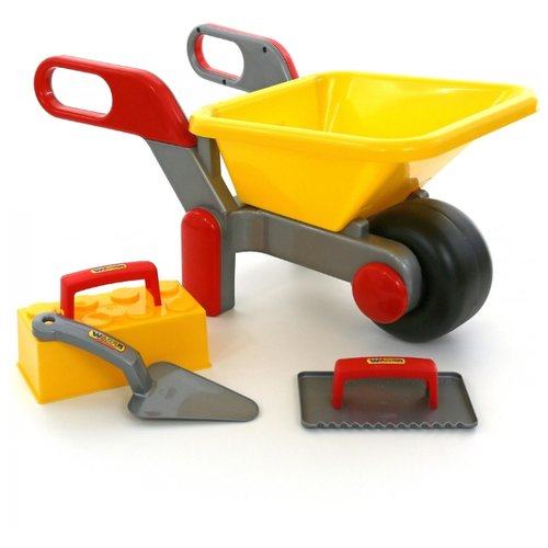 Купить Wader Тачка №4 + Набор каменщика №2 (42064), Детские наборы инструментов