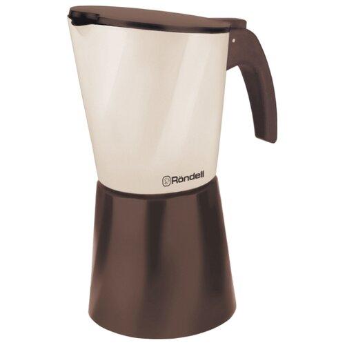 Гейзерная кофеварка Rondell Mocco & Latte RDA-738 (300 мл), бежевый/коричневый