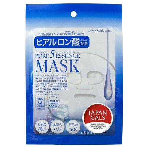 Japan Gals маска Pure 5 Essence с гиалуроновой кислотой japan gals маска pure 5 essence с гиалуроновой кислотой 7 шт