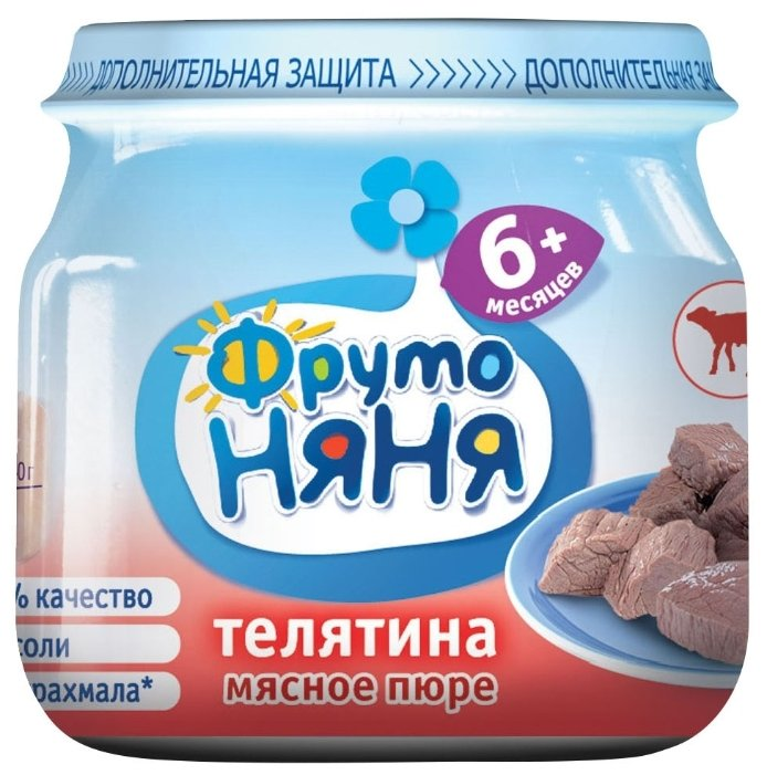 Пюре ФрутоНяня из телятины (с 6 месяцев) 80 г, 1 шт