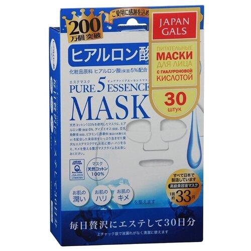 Japan Gals маска Pure 5 Essence с гиалуроновой кислотой, 30 шт. japan gals маска pure 5 essence с гиалуроновой кислотой 7 шт
