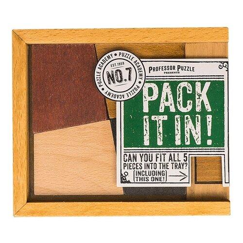 Головоломка Professor Puzzle Puzzle Academy Pack it In! (PA1455) коричневый