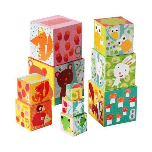 Купить Кубики-пазлы DJECO Лес, Детские кубики
