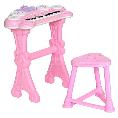 цена на Everflo музыкальный центр Пианино розовый