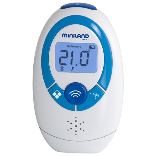 Инфракрасный термометр Miniland Thermoadvanced plus белый / синий цена 2017