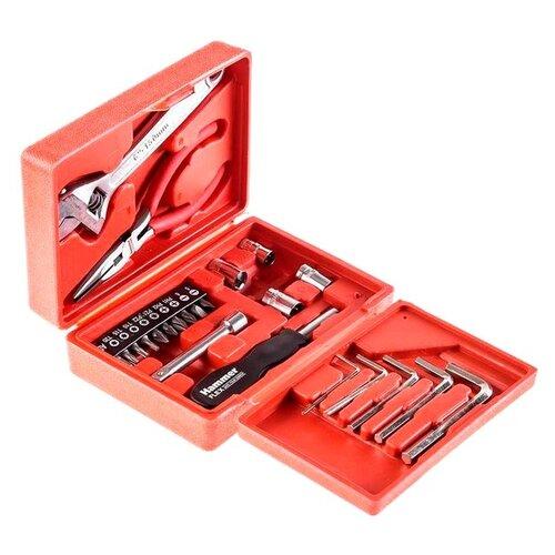 Набор инструментов Hammerflex (23 предм.) 601-041 красный набор инструментов hammer flex 601 041